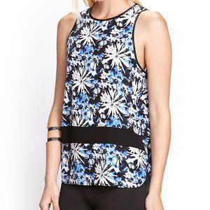 Floral top with mesh detail